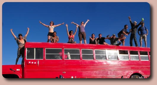 Party on top of the bus!
