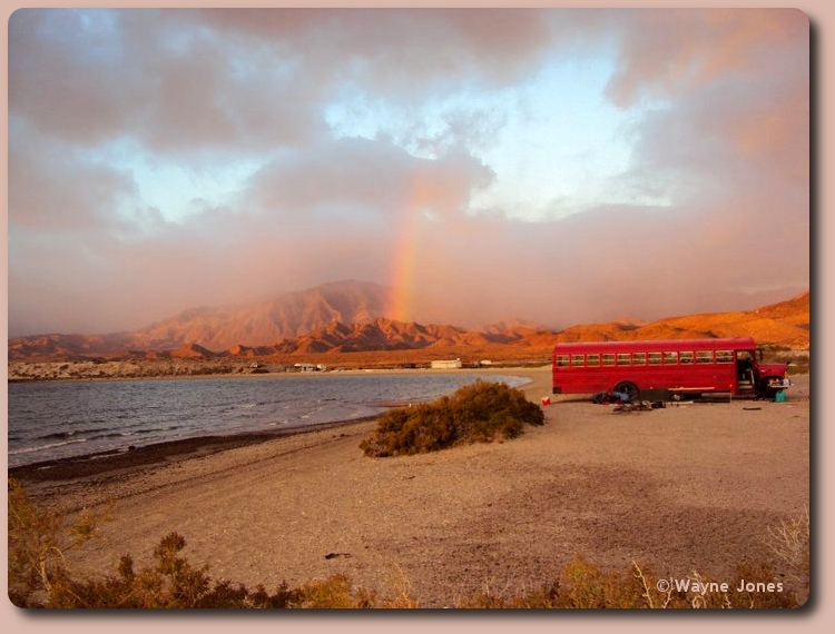 Rainbow at Bahia de los Angeles